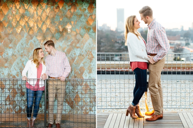 atlanta wedding photographers georgia engagement session ponce city market