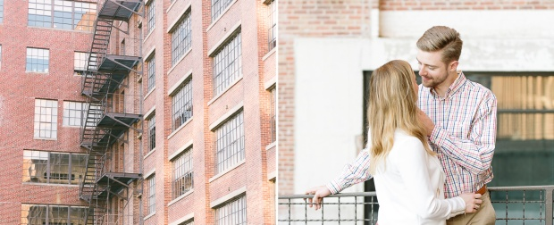 charleston wedding photographer south carolina wedding photographer atlanta engagement session ponce city market the roof couple posing