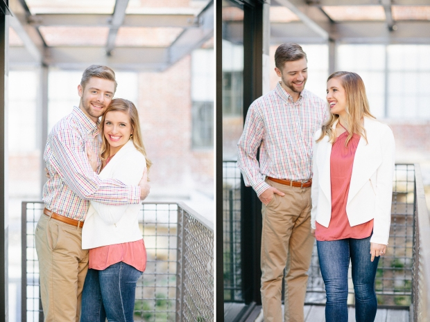 couple posing atlanta ponce city market engagement session georgia wedding photographers casey green photography