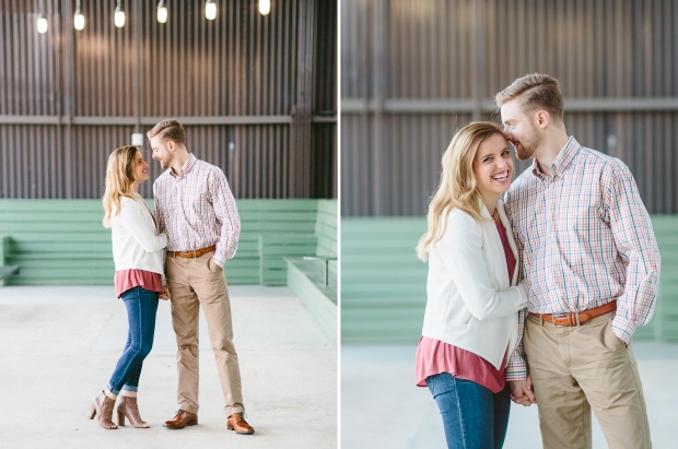 rooftop engagement session ponce city market atlanta wedding photographer casey green photography